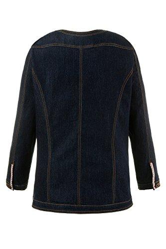 Ulla Popken Femme Grandes tailles Veste en jean 709044 bleu foncé