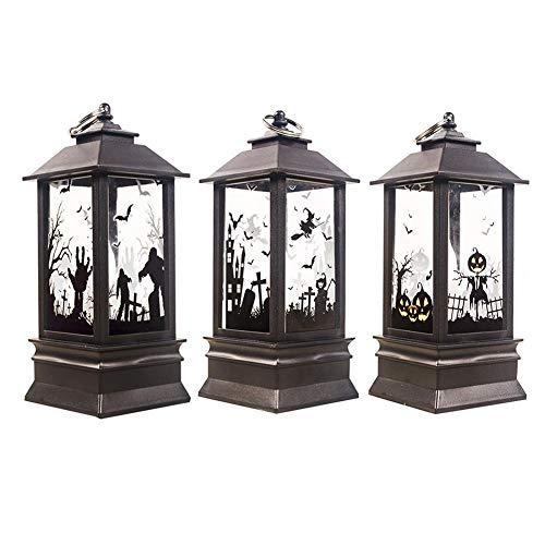Halloween Kerzenlampe, Kleines Öl Kerzenlampenlicht, LED Flammeneffektlicht, Simulations Flammenlicht Wieder Aufladbare Tischlampe Für Haus, Hotel, Halloween-Party-Dekoration