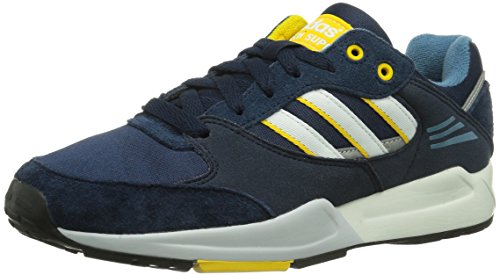 adidas Tech Super, Unisex-Erwachsene Sneakers Blau (Collegiate Navy / Running White / Sunshine)