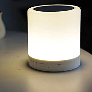 Prosmart PRO-STLSP-M2O Hands-free Bluetooth Speakers with LED Lamp (White)