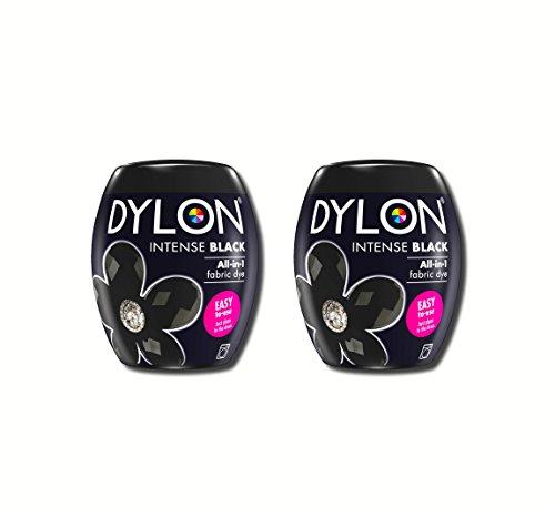 Neue Dylon 350g Intensiv Schwarz Maschinenfarbstoff Aushülsen 2 Pack