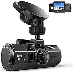 Crosstour Cámara de Coche Dash CAM 1080P Full HD 170°Ángulo Cámara para Coche G-Sensor Detección de Movimiento Grabación en Bucle HDR con Visión Nocturna CR700