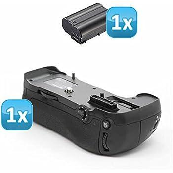 Minadax Profi Batteriegriff für Nikon D610, D600 - ähnlich wie MB-D14 für 2x EN-EL15 oder 8x AA Batterien + 1x EN-EL15 Nachbau-Akku