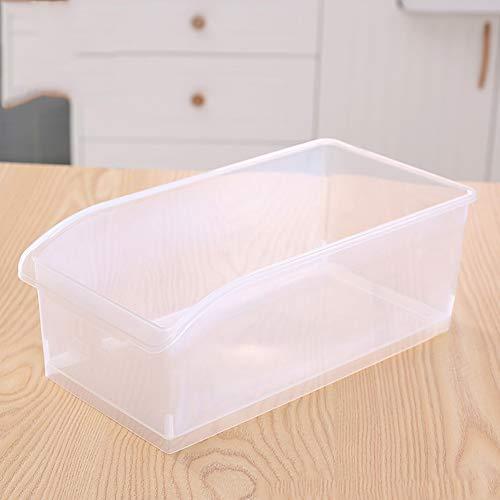 GEZICHTA Kunststoff Kühlschrank Storage Organizer, Gefrierschrank und Pantry Schrank Schublade Organizer Bin, Sammelbox Rack Ständer Korb Behälter für Haus und Küche