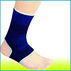 Prem Mithlesh Ankle Support Braces And Heel Protector Sports Guard Strain Pain Relief Set Of 2 Blue Colour Unisex
