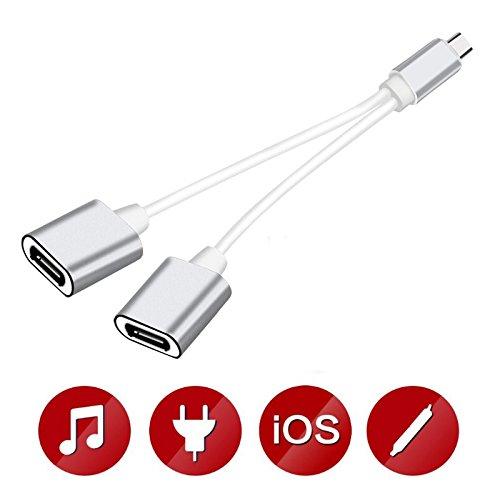 [Lot de 3] 1M Cable USB C Chargeur Samsung S8 en Nylon avec aluminium connecteur robuste compatibles aux Samsung S9, Huawei P9et D'autres Dispositifs qui Supportent USB C(bleu et noir )