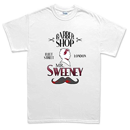 Sweeney Demon Barber Mens T Shirt (Tee) 2XL White