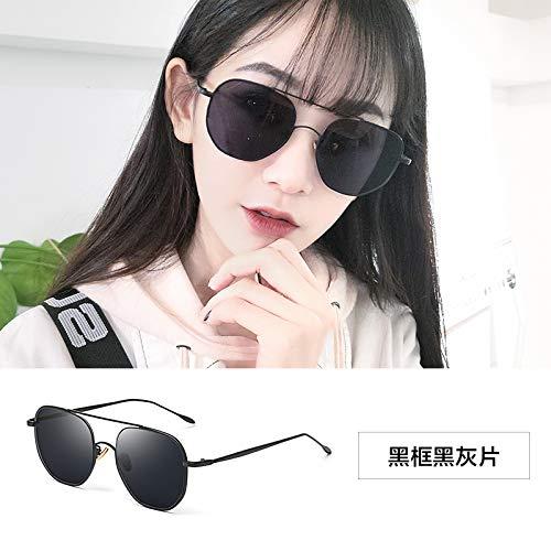 Sonnenbrillen Extra Große Polarisierte Sonnenbrille Frau Lady Sonnenbrille 100% Uv400 Schutz, Anti-ultraviolette Straße Pat-gläser Schwarz-gerahmte schwarzgraue Scheiben