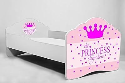 La cama para ni/ños princesa durmiente la cama infantil el tama/ño 160x80 con el colch/ón