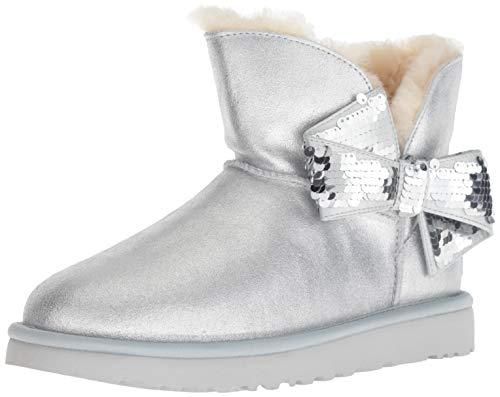 UGG - Stivali Mini Sequin Bow - Silver, Taglia:42 EU