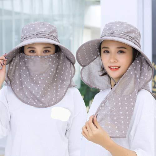 LUHETYM Ladies Sun Cap Flap Hats 360 Degree Anti-uv Sun Hats for Summer Women Sun Visor Cap Folding Neck Face Mask Wide Brim HatsGrayFashion Sun Hat Beach Hats