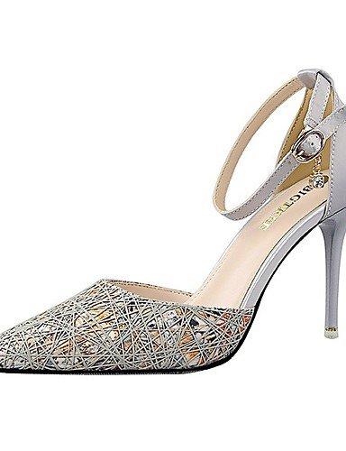 WSS 2016 Chaussures Femme-Mariage / Habillé / Soirée & Evénement-Noir / Violet / Gris / Fuchsia-Talon Aiguille-Talons / Bout Pointu-Talons- fuchsia-us6 / eu36 / uk4 / cn36