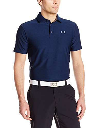2017 Under Armour Playoff Polo Mens Golf Performance Polo Shirt Academy/Graphite Medium