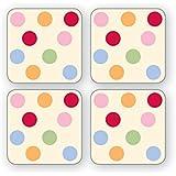 Cooksmart Spots Coasters, Pack of 4