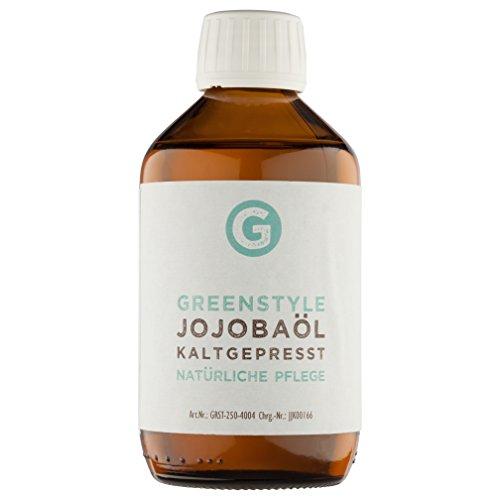 Jojobaöl Gold kaltgepresst (250ml) - 100% reines Öl für Haut und Haar von greenstyle