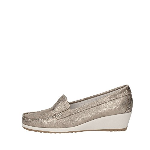 ENVAL SOFT 79336/00 MOCASSINO Donna PELLE TAUPE TAUPE 35