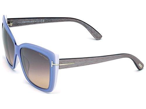 Tom Ford Für Frau 0390 Light Blue / Grey To Orange Kunststoffgestell Sonnenbrillen