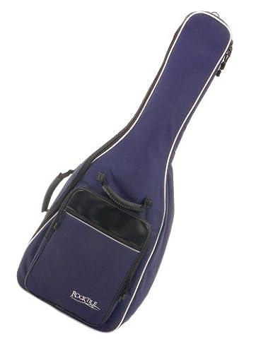 Rocktile housse pour guitare classique - rembourré avec bretelles (bleu)