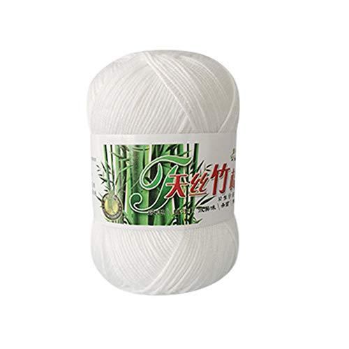 Gaddrt Handgewebtes Bambus-Baumwollgarn, Strickwolle, warm, weich, natürliches Handstricken, Baby Häkelstrickgarn