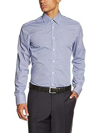 Venti Herren Slim Fit Businesshemd 001860, Gr. Kragenweite: 39, Blau (blau 101)