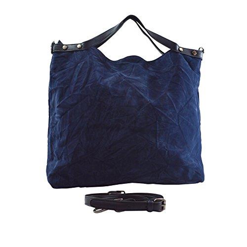 Lookat Shopper-Handtasche in PU-Leder mit Schulterriemen 46x40x11 Cm Blau