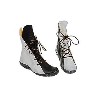 Eject Diamate Stiefelette schwarz weiß mix - Sommer Stiefel Lederfutter E-12738