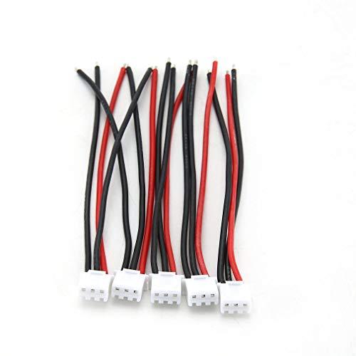 5 Stücke 100 Mm Rc Lipo Ladegerät 2 S Kabel Für Lipo Batterie Schwarz Rot