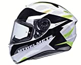 CASCO MT TARGO ENJOY FF106 AMARILLO Y BLANCO (L)