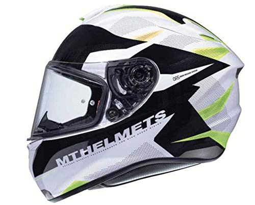 CASCO MT TARGO ENJOY FF106 AMARILLO Y BLANCO L