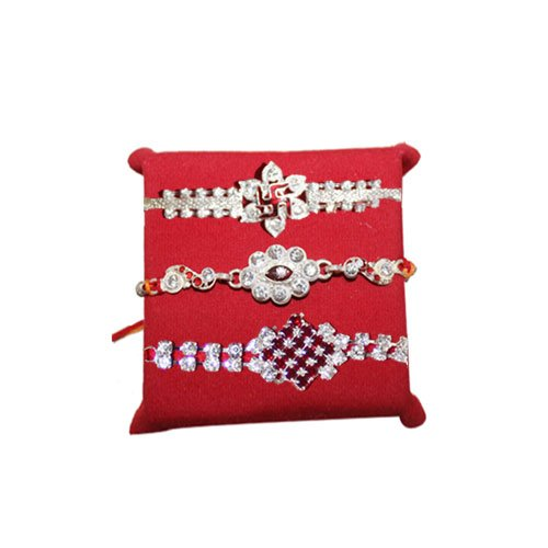 handicrunch-rakhi-set-of-3-swastik-graceful-rakhi-set-with-haldiram-rasgulla