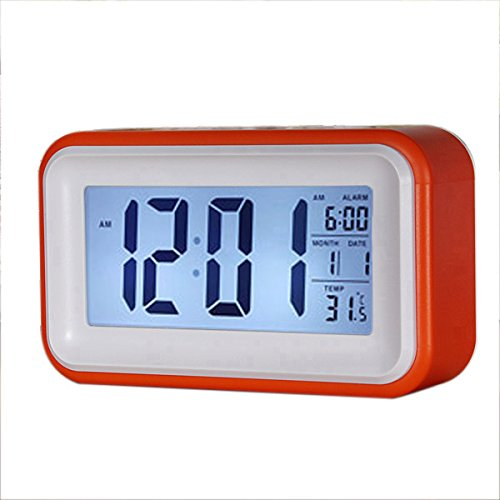 Reloj despertador digital LCD LED táctil