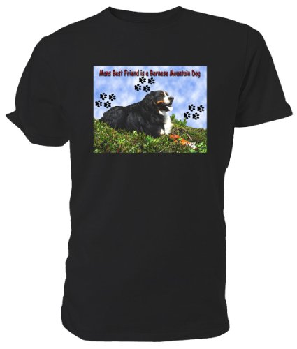 Bernese Mountain Dog T Shirt nero