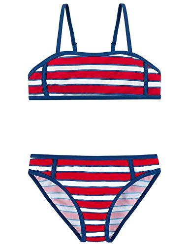 Schiesser Mädchen Badebekleidungsset Bustier-Bikini, Rot (Rot 500), 140