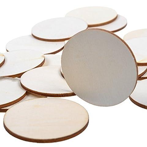 405,1cm Disque rond bois brut découpe Cercles pour créer des