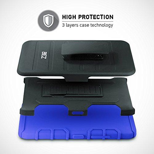 iPhone 7 Plus Hülle, iPhone 8 Plus Hülle, BEZ® [Heavy Duty Serie] stoßfest Outdoor Dual Layer Armor Case Handy Schutzhülle mit Gürtel-Clip Ständer [Shockproof] robuste Hülle fü iPhone 7 Plus - Grau Blau