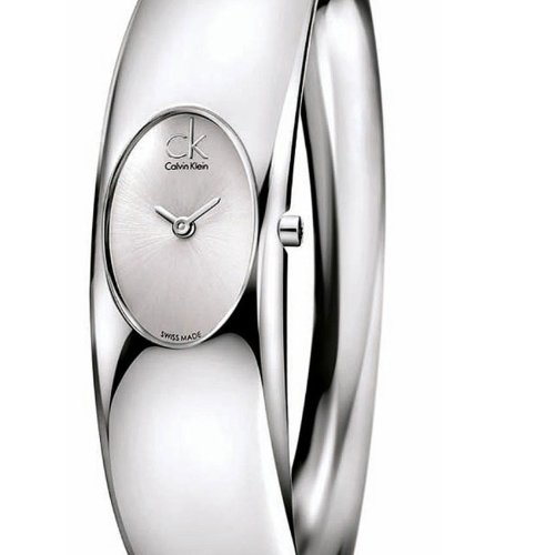 Calvin Klein Women's Quartz Watch with Silver Dial Analogue Display and Silver Stainless Steel Bracelet K1Y22120