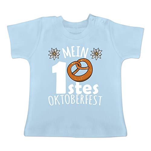 Oktoberfest Baby - Mein erstes Oktoberfest - weiß - 6-12 Monate - Babyblau - BZ02 - Baby T-Shirt - Bff Girl Kostüm