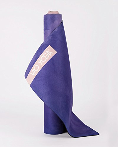"""Image of VIO YOGA® • Yogamatte Velvet Rug """"Aquarell Rosa/Blau • 183 x 61 x 0.3 cm • Natur-Kautschuk mit Mikrofaser-Oberfläche • 100% biologisch abbaubar + kalt in der Maschine waschbar"""