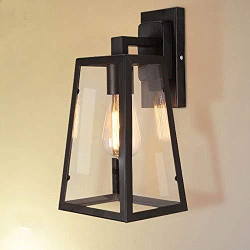 ZHFC Modern Wandleuchte Kreative industrielle Art Eisen Wand Lampe Loft Glas Schatten Leuchte Antiken Café Hotel Korridor dekorative Wandleuchte - Eisen-wand-schatten