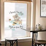 PVCOLL Glasfolie Fensterfolie Scrub Elektrostatische Klebende Fenster Glastür Transparent Opake Sonnencreme Wasserdicht Glas Aufkleber 45 * 60Cm