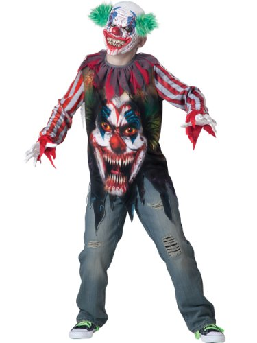 Serienkiller Kinder Kostüm - Horrorclown Kinderkostüm - Grösse: 12 / 146-152cm