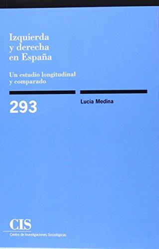 Izquierda Y Derecha En España : Un Estudio Longitudinal Y Comparado (Monografías)