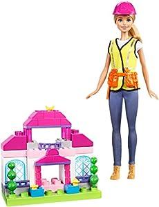 Barbie Quiero Ser Constructora, muñeca con accesorios (Mattel FCP76)