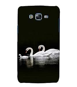 printtech Nature Bird Swan Back Case Cover for Samsung Galaxy J5 / Samsung Galaxy J5 J500F