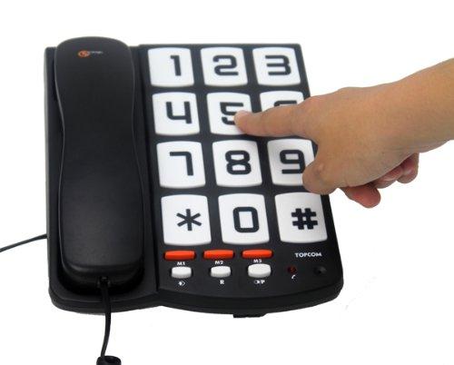 topcom sologic t101  Topcom Sologic T101 Telefono con Grandi Tasti, Nero | Offerta ...