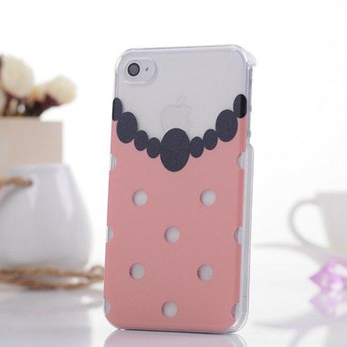 Case Fashion Style Collier cristal dur pour iPhone 5 viande rose