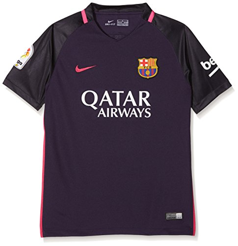 Get the new sponsored version of the FCB kit!Brand new, official Barcelona Kids Away shirt for the 2016 2017 La Liga season. This authentic football kit is available in junior sizes small boys, medium boys, large boys, XL boys and is manufactured by ...