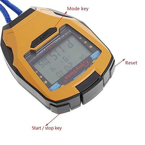 Yiwa Cronómetro Digital LCD Running Deporte Temporizador