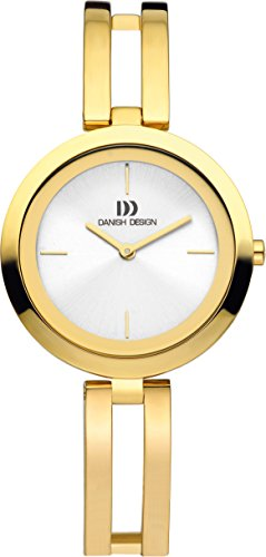 Danish Design Women's Quartz Watch with White Dial Analogue Display and Gold Stainless Steel Gold Plated Strap DZ120366
