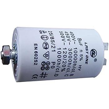 Condensateur 8µf 450v Last One Référence : Cap514un Pour Lave Linge Divers Marques